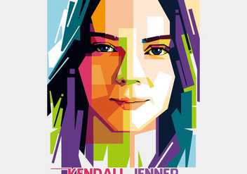 Kendall Jenner - Hollywood Style - WPAP - бесплатный vector #411819