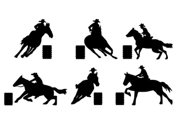 Barrel Racing Vector - Free vector #411989