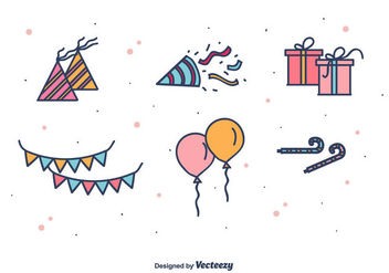 Party Favors Icons - vector #412019 gratis