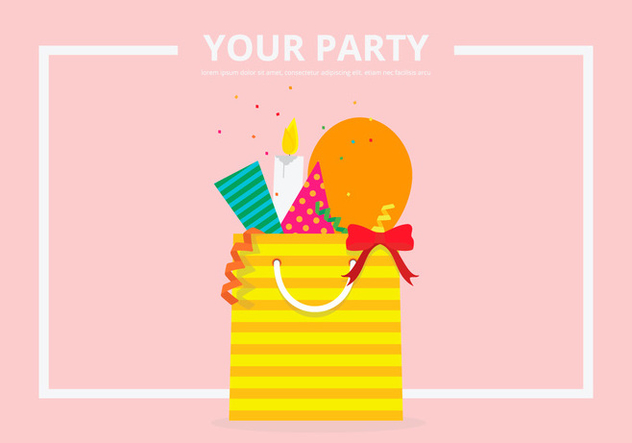 Party Favors Equipment Template - Kostenloses vector #412049