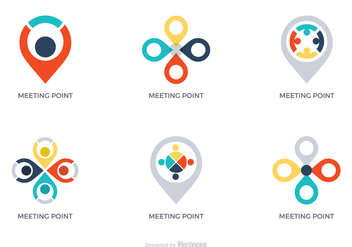 Free Vector Meeting Point Logos - бесплатный vector #412109