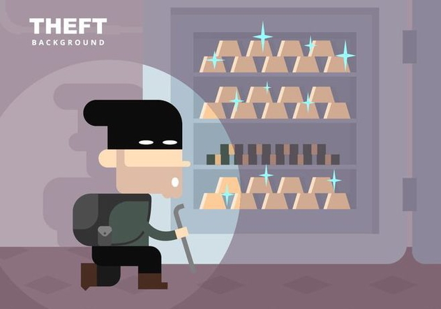 Theft Background - Free vector #412159