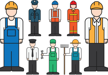 Male Professions Icons - Free vector #412199