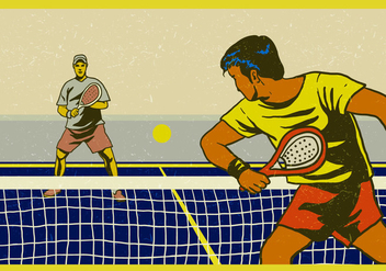 Padel Professional Player - бесплатный vector #412249