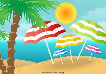 Beach Vector Background - Free vector #412479