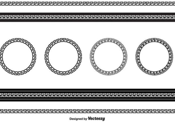 Greek Key Vector - Free vector #412509