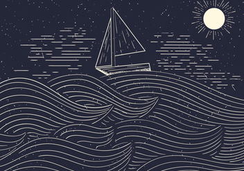 Free Detailed Vector Illustration Of The Sea - Kostenloses vector #412569