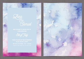 Vector Watercolor Wedding Invite - Free vector #412589
