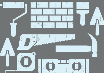 Bricklayer Icons - vector gratuit #412619