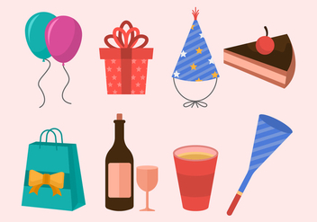 Free Party Icons Vector - vector #412629 gratis