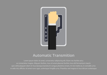 Gear Shift Automatic Illustration Template - Free vector #412709