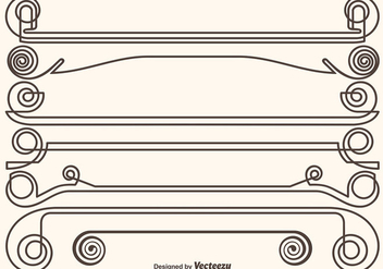 Set Of Ornamental Dividers - vector gratuit #412729