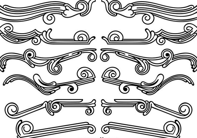 Set Of Vintage Ornamental Dividers - vector gratuit #412739