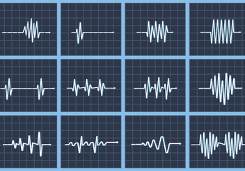 Heart rate beat vector flatline - Free vector #412839