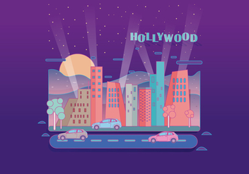Hollywood Light Landscape Vector - Kostenloses vector #412849