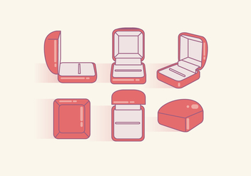 Ring Box Vector - vector #412889 gratis
