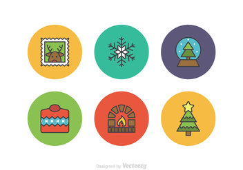Free Christmas Flatline Vector Icons - Kostenloses vector #412899
