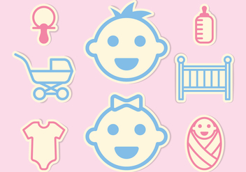 Baby Mini Icons Set - vector #412959 gratis