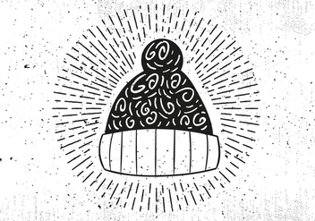 Free Hand Drawn Winter Hat Vector Background - Kostenloses vector #413199