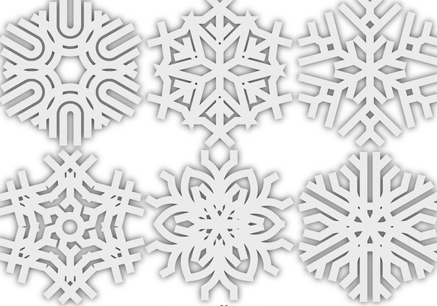Vector Snowflakes Icon - Free vector #413269