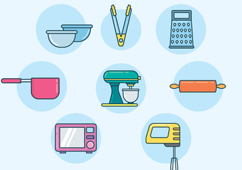 Free Baking Equipment Vector - бесплатный vector #413379