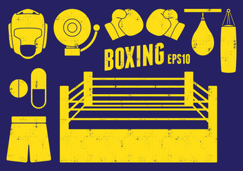 Boxing Icons - Free vector #413419