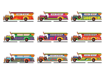 Philippine Jeep Icon or Jeepney - vector gratuit #413459