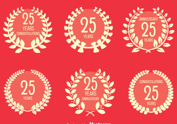 Nice Anniversary Vector Set - Free vector #413499