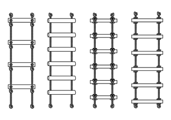 Rope Ladder Outline Free Vector - vector gratuit #413509