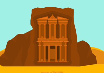 Free Treasury At Petra Vector - Free vector #413519