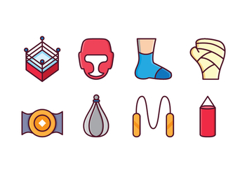 Free Boxing Icon Set - vector gratuit #413529