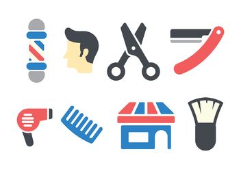 Barber Shop Icon Vector - Free vector #413579