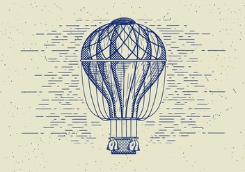 Free Vector Detailed Air Balloon - Free vector #413589