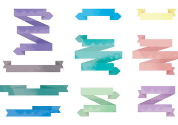 Vector Watercolor Ribbons - бесплатный vector #413619