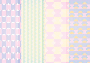 Vector Pastel Geometric Patterns - vector gratuit #413659