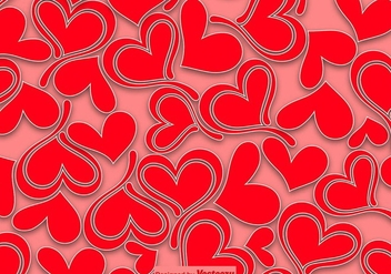 Hearts Seamless Pattern - Vector - Free vector #413679