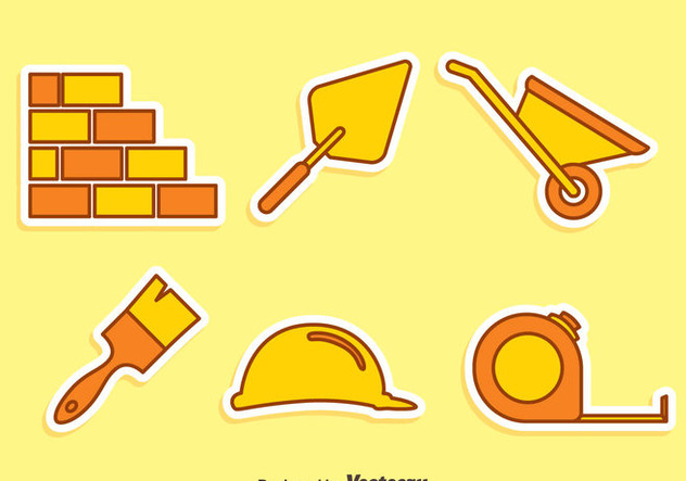 Home Construction Tool Icons Vector - Free vector #413709