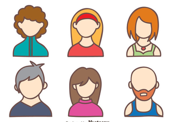 Hand Drawn People Avatar Vector - Free vector #413719
