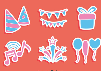 Party Decoration Element Vector - vector gratuit #413729