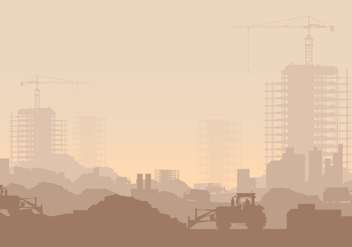 Landfill Industrial Illustration - Free vector #413739