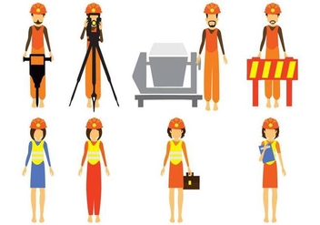 Free Construction and Civil Engineering Character Vector - Kostenloses vector #413769
