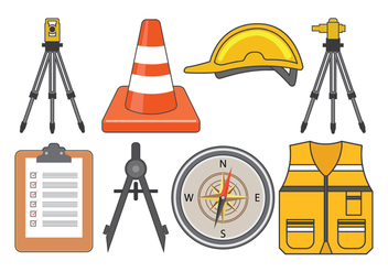 Surveyor Equipment Vector - vector gratuit #413779