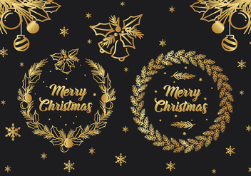 Christmas Greeting Free Vector - vector gratuit #413849