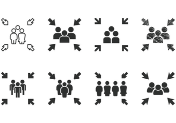 Meeting Point Icons - vector #413879 gratis