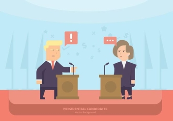 US Politicians Lectern Background - vector gratuit #413899