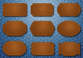 Free Leather Badges Jeans Vector - бесплатный vector #413939
