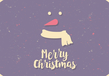 Colorful Snowman Postcard - vector gratuit #414039