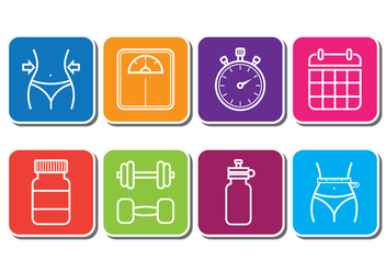 Slimming Icons - Free vector #414049