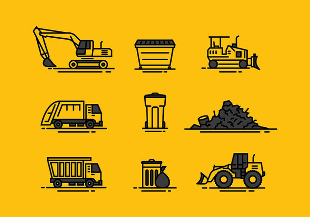 Landfill Icon Line Free Vector - Free vector #414109