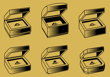 Ring Box Outline Free Vector - vector #414119 gratis